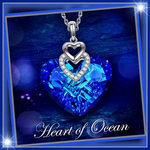6.4 CTTW Heart Blue Tanzanite Necklace